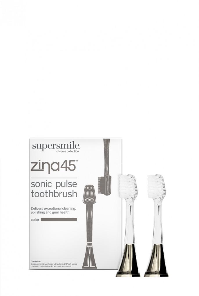 Купить Набор сменных насадок, Zina45™ Sonic Pulse Head Replacement Head Charcoal Supersmile